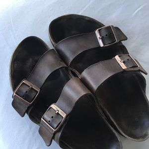 Dark Brown Leather Birkenstock's